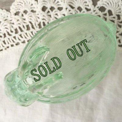 画像3: sold インディアナグラス バニー/ラビット/うさぎ ネスト・ディッシュ グリーン