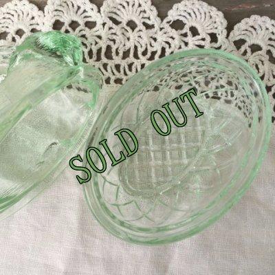 画像4: sold インディアナグラス バニー/ラビット/うさぎ ネスト・ディッシュ グリーン