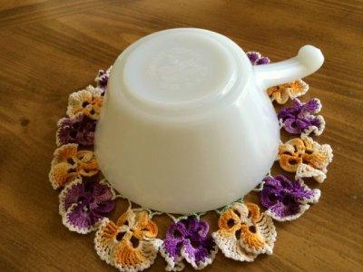 画像5: ファイヤーキング ミルクグラス フレンチ(ワンハンドル)キャセロール その2