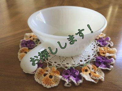 画像3: sold アンカーホッキング ミルクグラス フレンチ(ワンハンドル)キャセロール