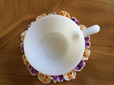 画像4: ファイヤーキング ミルクグラス フレンチ(ワンハンドル)キャセロール その2