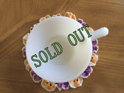 画像4: sold 【限定奉仕品】ファイヤーキング ミルクグラス フレンチ(ワンハンドル)キャセロール AS IS