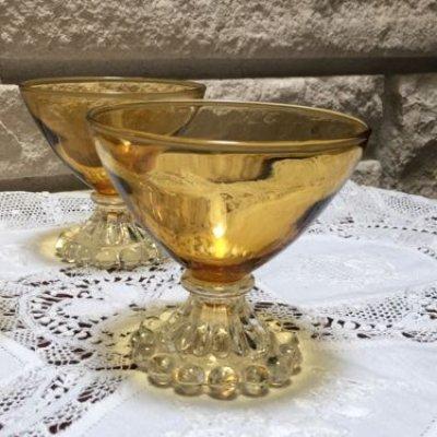 画像1: アンカーホッキング ブーピー アンバーカラーのシャンパングラス(シャーベットグラス)