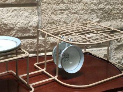 画像3: ビンテージ食器オーガナイザー ダークアイボリー(ラックのみ)