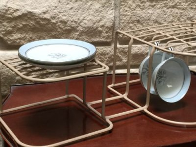 画像4: ビンテージ食器オーガナイザー ダークアイボリー(ラックのみ)