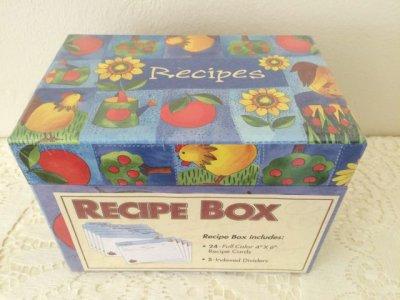 画像2: 新品未開封 レシピボックス カラー・レシピカード24枚とインデックスカード5枚入り 2002年 made in China