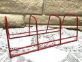Vintage, Wire Dish Standing Plate Rack, Red
