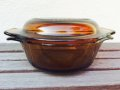 Fire King, Amber, Covered Small Casserole,12oz (350ml)