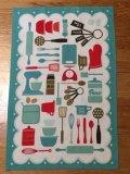 NEW Retro Dish Towel Turquoise
