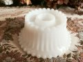 Vintage MilkGlass, Beaded Edge Candle Holder