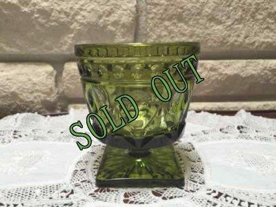 画像3: sold インディアナ・グラス グリーン・ゴブレット