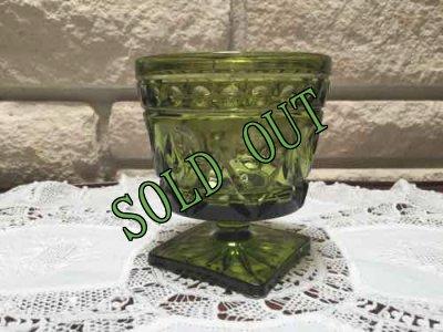 画像2: sold インディアナ・グラス グリーン・ゴブレット
