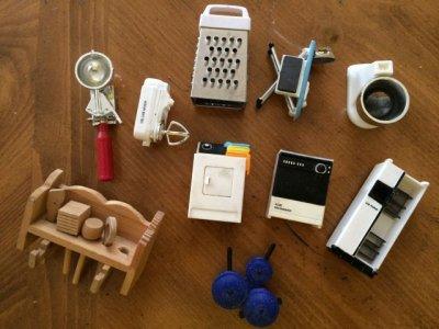 画像1: ビンテージ・立体マグネット キッチン&家電シリーズ 10個