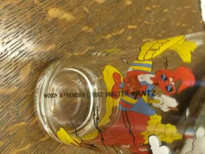 画像3: Woody & Friends 1992 Walter Lantz Glass, AS IS