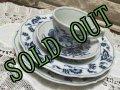 Blue Danube Japan 4 Piece Set, Cup&Saucer, Salad Plate, Rim Soup Bowl  1970's-2000