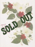 sold Vintage Thank You Card, Flowers, made in USA