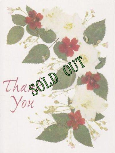 画像1: sold Vintage Thank You Card, Flowers, made in USA