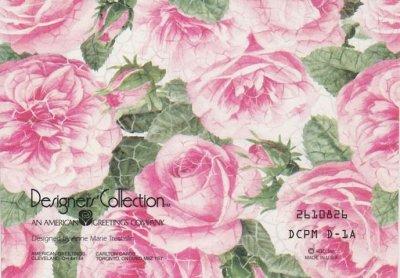 画像3: Vintage Thank You Card, Pink Rose, made in USA
