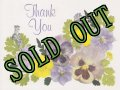 sold Vintage Thank You Card, Viola, made in USA