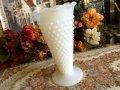 ファイヤーキング ミルクグラス ホブネイル 花瓶(大)