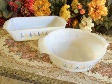 他の写真1: ファイヤーキング ミルクグラス キャンドルグロウ ローフパン 1クオート(約950ml)