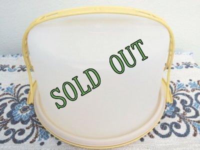 画像2: sold ビンテージ・タッパーウェア ケーキテイカー・キーパー(大)マスタードイエロー