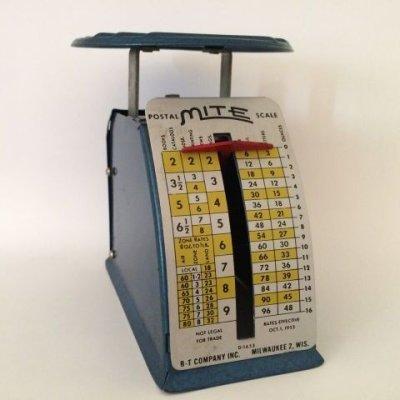 画像2: ビンテージ・ポスタル・スケール(郵便秤) ※オンス-ポンド計量のみ アメリカの1953年10月1日郵便料金レート版 made in USA