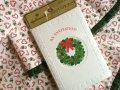 新品未開封 ビンテージ・ホールマーク クリスマス・インビテーションカード8枚組(白封筒つき) アメリカ製