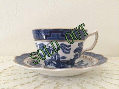 画像2: sold ブース(ロイヤルドルトン) 20世紀初頭 リアルオールドウィロー カップ&ソーサー made in England