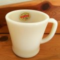 新品タグ付 Fire King, Ivory, D Handle Mug 1950' AS IS