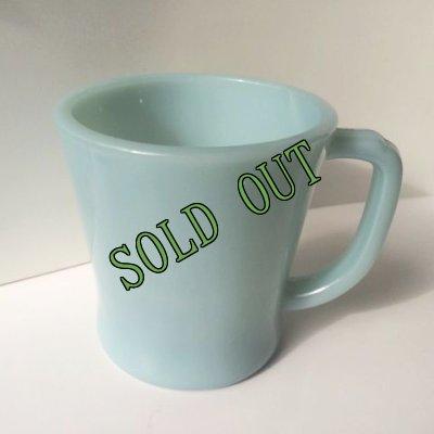 画像2: sold ファイヤーキング ミルクグラス ターコイズ・ブルー Dハンドルマグ 1956〜1958年