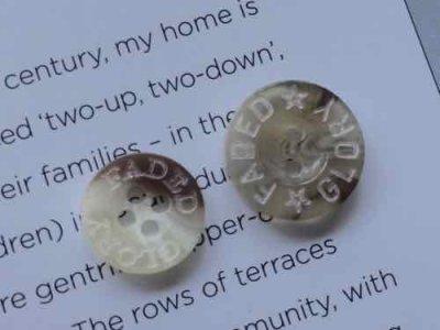 画像4: NEW Vintage Button GLORY GADED (S) 48pc