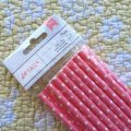 NEW Paper Straw Pink Dots 24pc