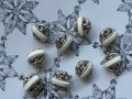 NEW Button Combination Silver&White 9pc