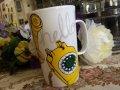 スターバックス 2015年北米限定販売 陶器トールマグ 黄色い電話 473ml