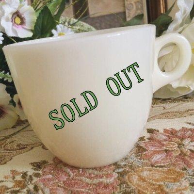 画像1: sold 【限定奉仕品】ファイヤーキング 新品同様 1946年〜1958年 アイボリー・ミルクグラス 1700ライン・セント・デニス・カップ