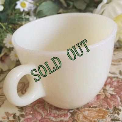 画像3: sold 【限定奉仕品】ファイヤーキング 新品同様 1946年〜1958年 アイボリー・ミルクグラス 1700ライン・セント・デニス・カップ