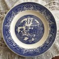 Blue Willow Dinner Plate by Royal USA Discontinued 1948~