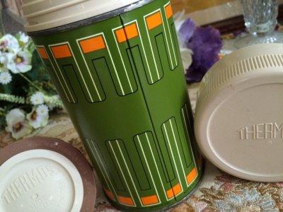 画像2: サーモス ビンテージ魔法瓶水筒 1970年 オリーブグリーン made in USA