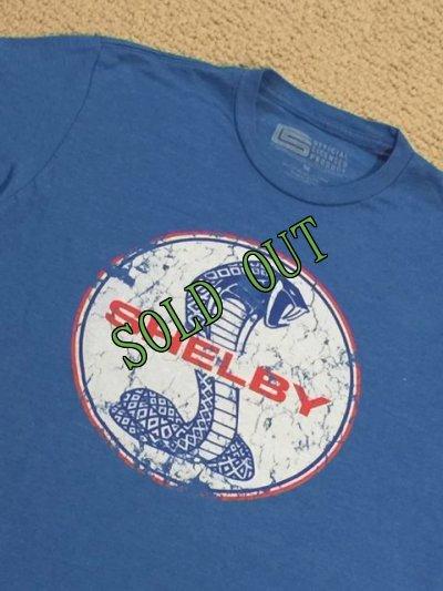 画像5: sold フォード・マスタング・シェルビー・コブラ エンブレムTシャツ ブルー M