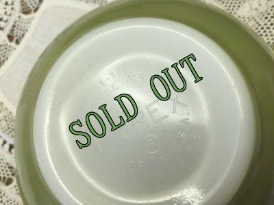 画像3: sold パイレックス ミルクグラス シンデレラボウル(S) モスグリーン 1 1/2パイント(710ml)