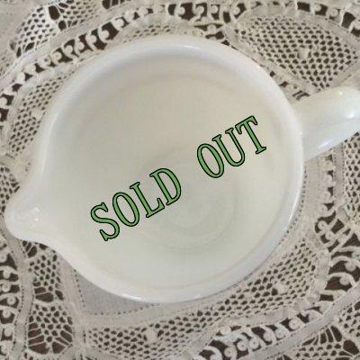 画像2: sold コーニング ミルクグラスレストランウエア レッドバンド・シリーズ クリーマー