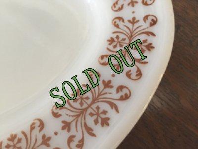 画像2: sold パイレックス  ルクグラス カッパーフィルグリー オーバル皿 (M) AS IS