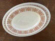他の写真3: sold パイレックス  ルクグラス カッパーフィルグリー オーバル皿 (M) AS IS
