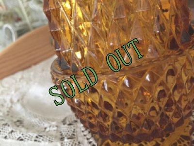 画像2: sold インディアナグラス アンバーのフェアリーランプ キャンドルホルダー
