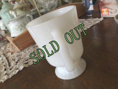 画像2: sold FireKing, Milk Glass Footed Mug, White