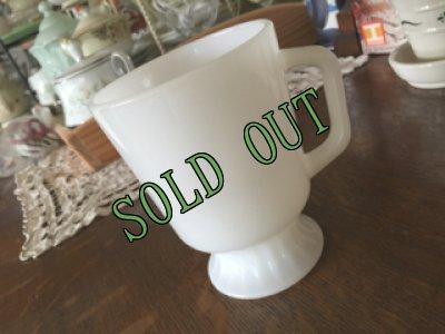 画像1: sold FireKing, Milk Glass Footed Mug, White