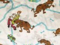 Vintage , Used Scooby-Doo,Twin Flat Sheet 1999