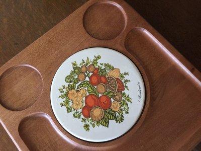 画像1: ビンテージ・グッドウッド社製 チーク材 スパイス・オブ・ライフ チーズ&クラッカー サービングプラッター