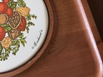 画像2: ビンテージ・グッドウッド社製 チーク材 スパイス・オブ・ライフ チーズ&クラッカー サービングプラッター